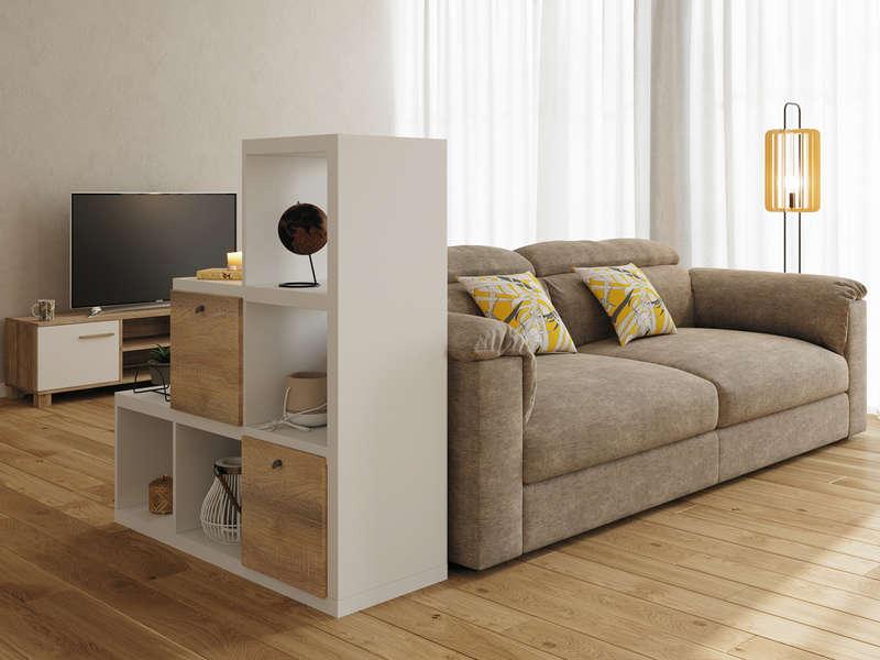 meuble tv 2 portes promo conforama