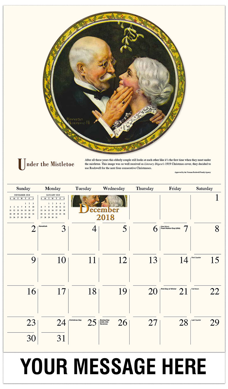 Norman Rockwell Art Promotional Calendar 65 Business