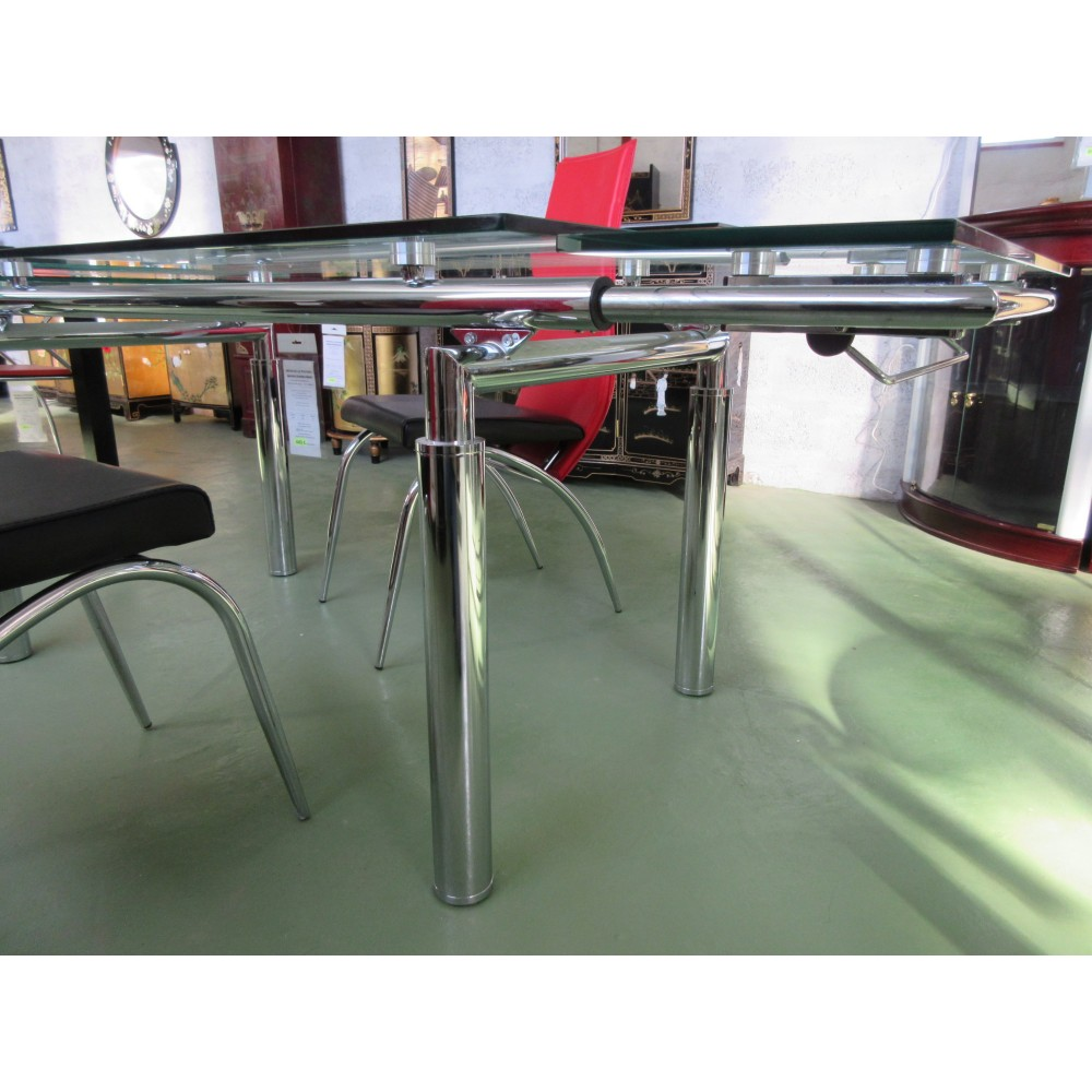 Table Salle Manger Verre Avec Rallonges Magasin Du
