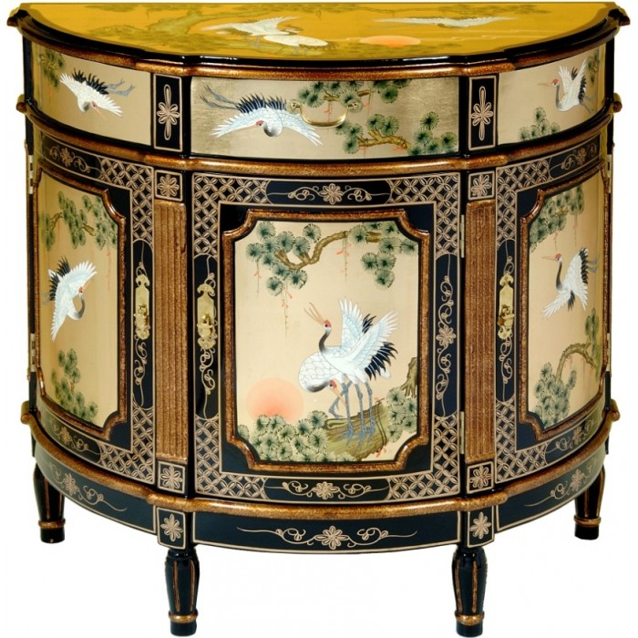 Commode Chinoise Ancienne Laque Dore Magasin Du Meuble