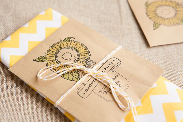 Sunflower Hen Party Invites