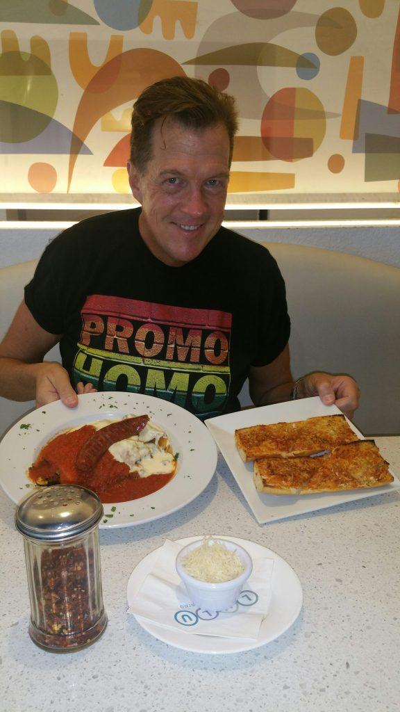 PromoHomo.TV's Nicholas Snow enjoys lunch at Lulu!