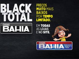Black Total Casas Bahia tem promoção com descontos até 80% off