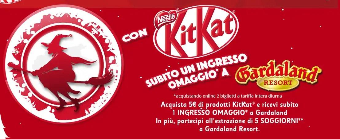 Vinci Gardaland Hotel + Biglietti per 4 persone con KitKat 2018