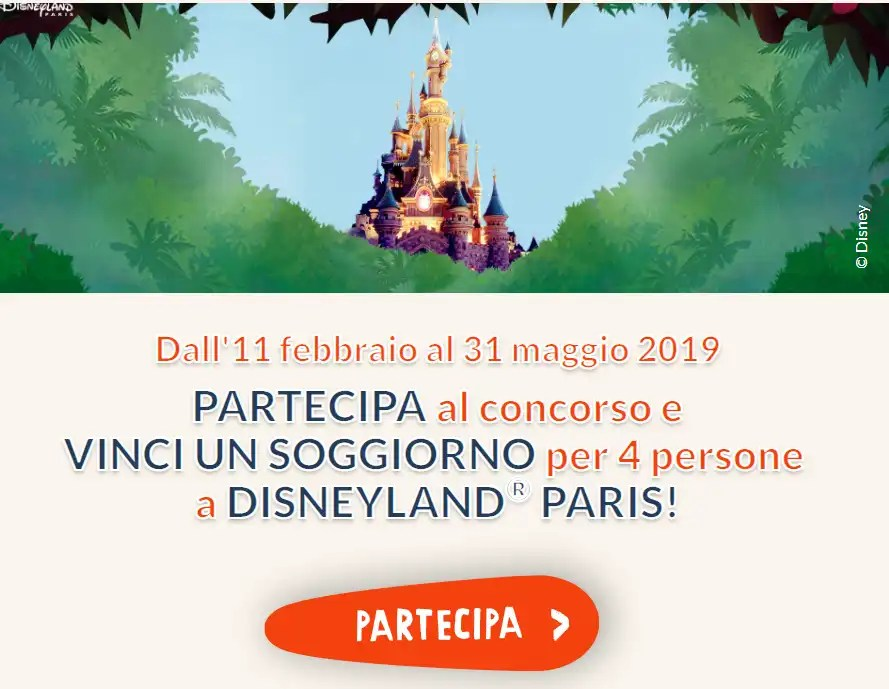 Kinder vinci soggiorni a Disneyland Paris