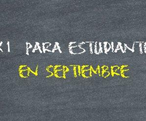 2×1 en cines para estudiantes durante septiembre