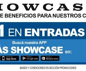 2 x 1 en Showcase con su aplicación