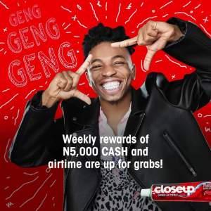 "CloseUp ""Keep It Fresh Contest"", Win N250,000."