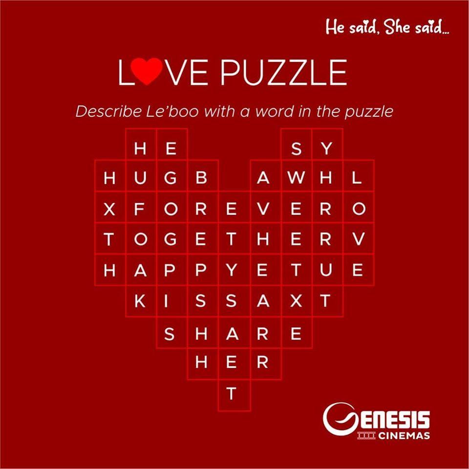 Genesis Cinemas Valentine Giveaways!!!