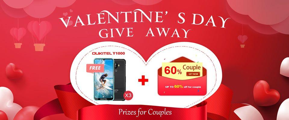 OUKITEL Valentine Giveaway, 3 Smartphones For Grabs…