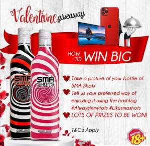 Sma Shots Valentine Giveaways Win, Smartphones, Tvs, and Dinner for 2.