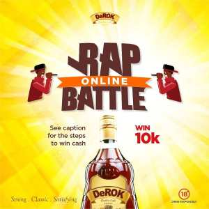 """Win N10K In DeROK Quality Cafe Liqueur, """"Rap Online Battle""""  !!!"""