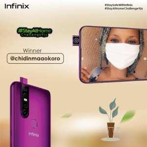 Winner of Infinix #StayAtHomeChallenge9ja
