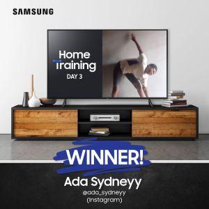 Day 3 Winner of Samsung Home Training Challenge !!!