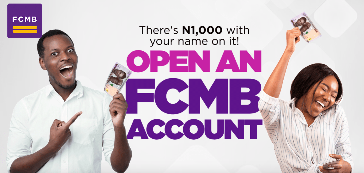 Open FCMB Online Account and get N1000 Instantly !!!.