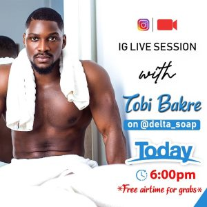 Loads of Airtime for Grabs in @delta_soap Instagram Live Session with Tobi Bakre