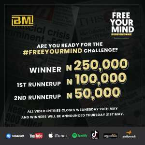 """Win N250K in @bobbiemonnie """"FREE YOUR MIND"""" Challenge, By BM Records."""