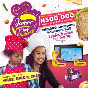 Mamador Junior Chef Challenge Extended Till 3rd June, 2020.