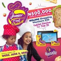Mamador Junior Chef Challenge Extended Till 3rd June, 2020.
