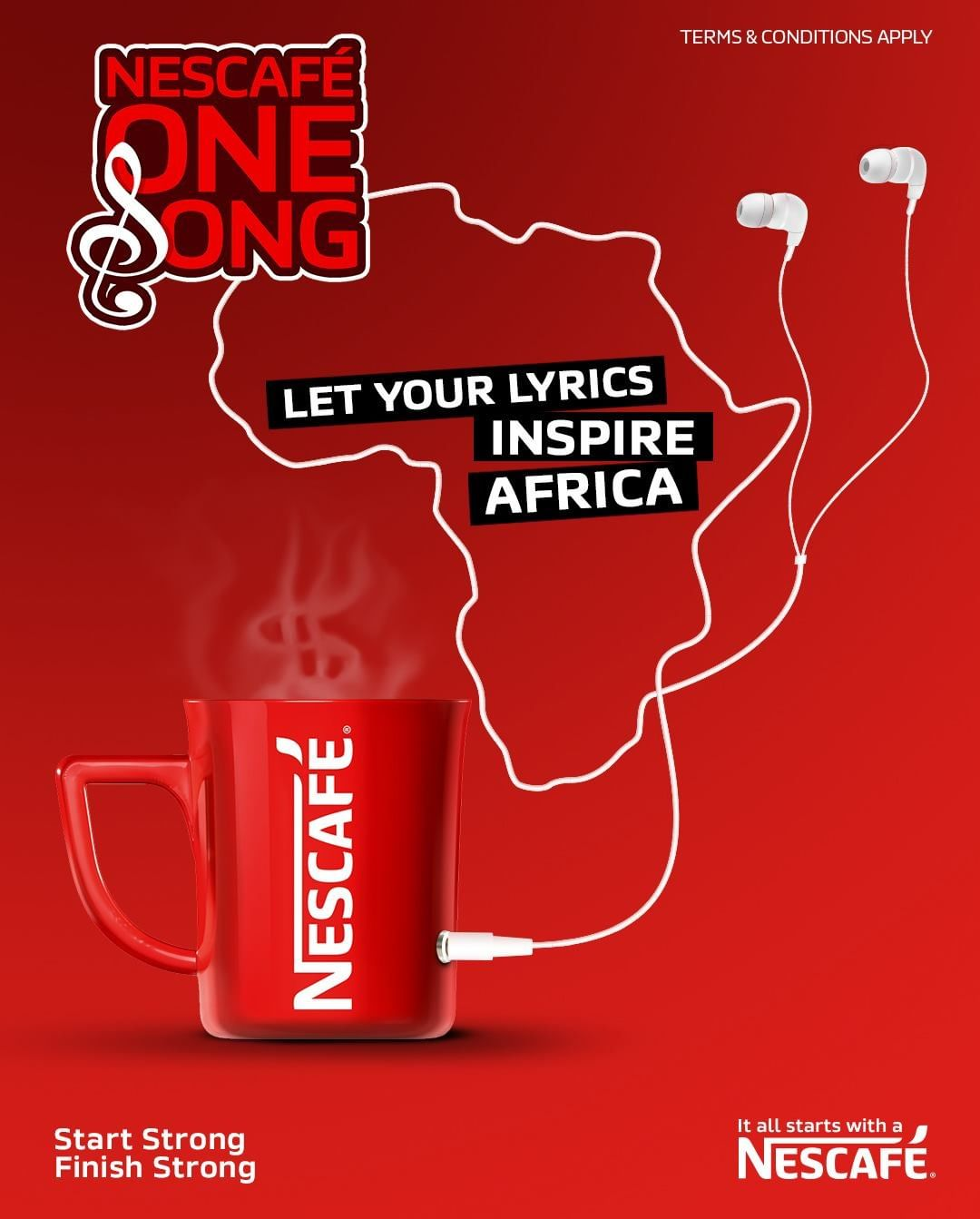 "Win $3000 in ""Nescafe One Song Competition"" and Let Your Lyrics Inspire Africa."