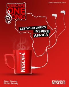 """Win $3000 in """"Nescafe One Song Competition"""" and Let Your Lyrics Inspire Africa."""
