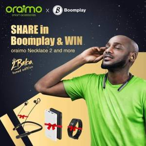 Share in Boomplay and Win Oraimo Necklace 2 Wireless Earphone.