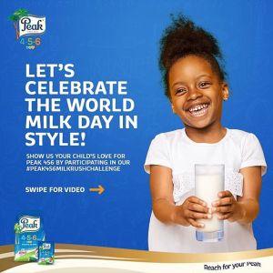 Join #Peak456MilkRushChallenge To Mark World Milk Day, 1st June, 2020.