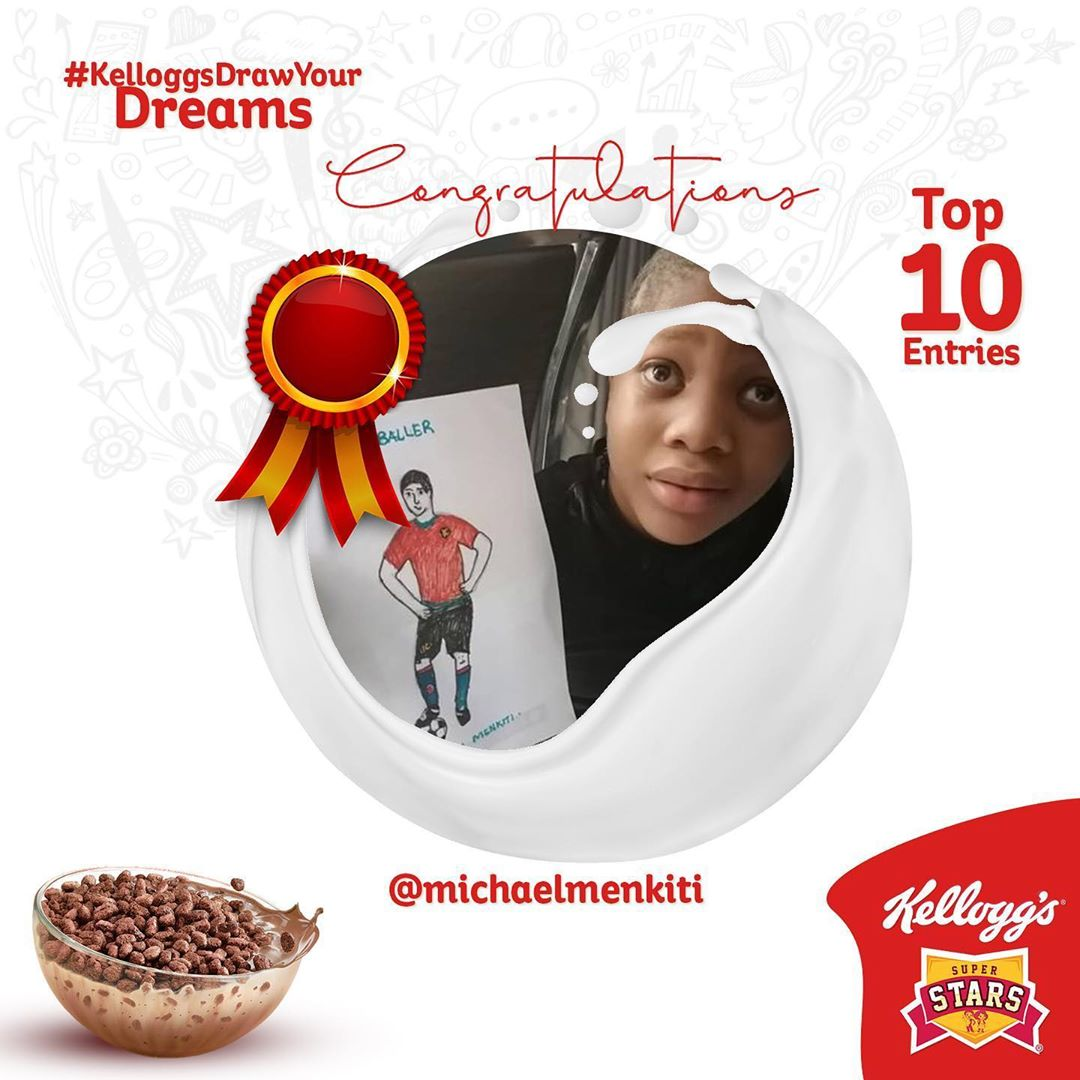 Winners of Kelloggs Draw Your Dreams Contest !!!