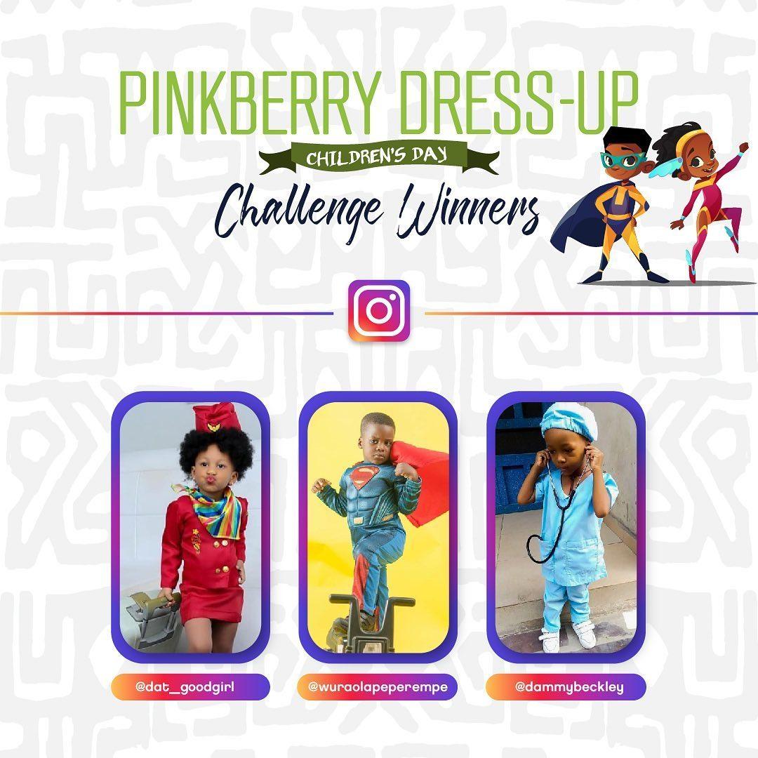 Winner of Pinkberry Dress Up Challenge Announced…