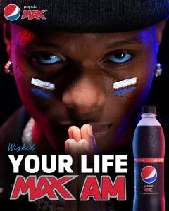 Fabulous Picture of Wizkid on Pepsi Max Recent Campaign.