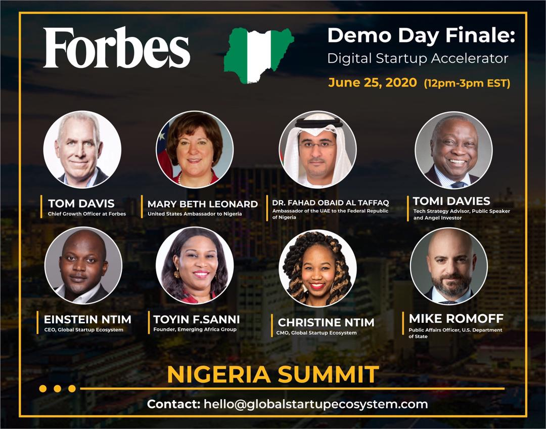 I have been Invited to the 1st Forbes  Nigeria Summit and i still can't believe i am a Partner, Soo Thankful.
