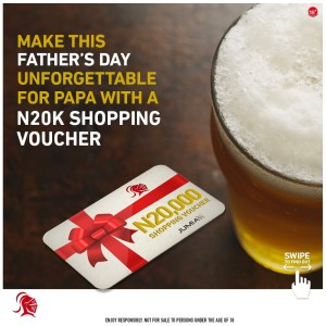 Win N20k Shopping Voucher in Gulder Nigeria Fathers Day Giveaway.