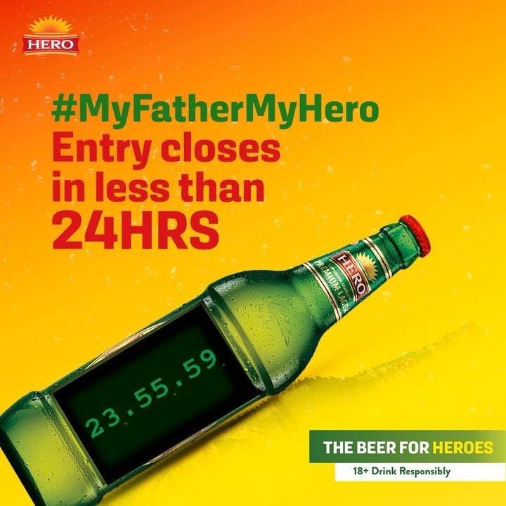 Hero Lager, My Father My Hero Giveaway Ends Soon.