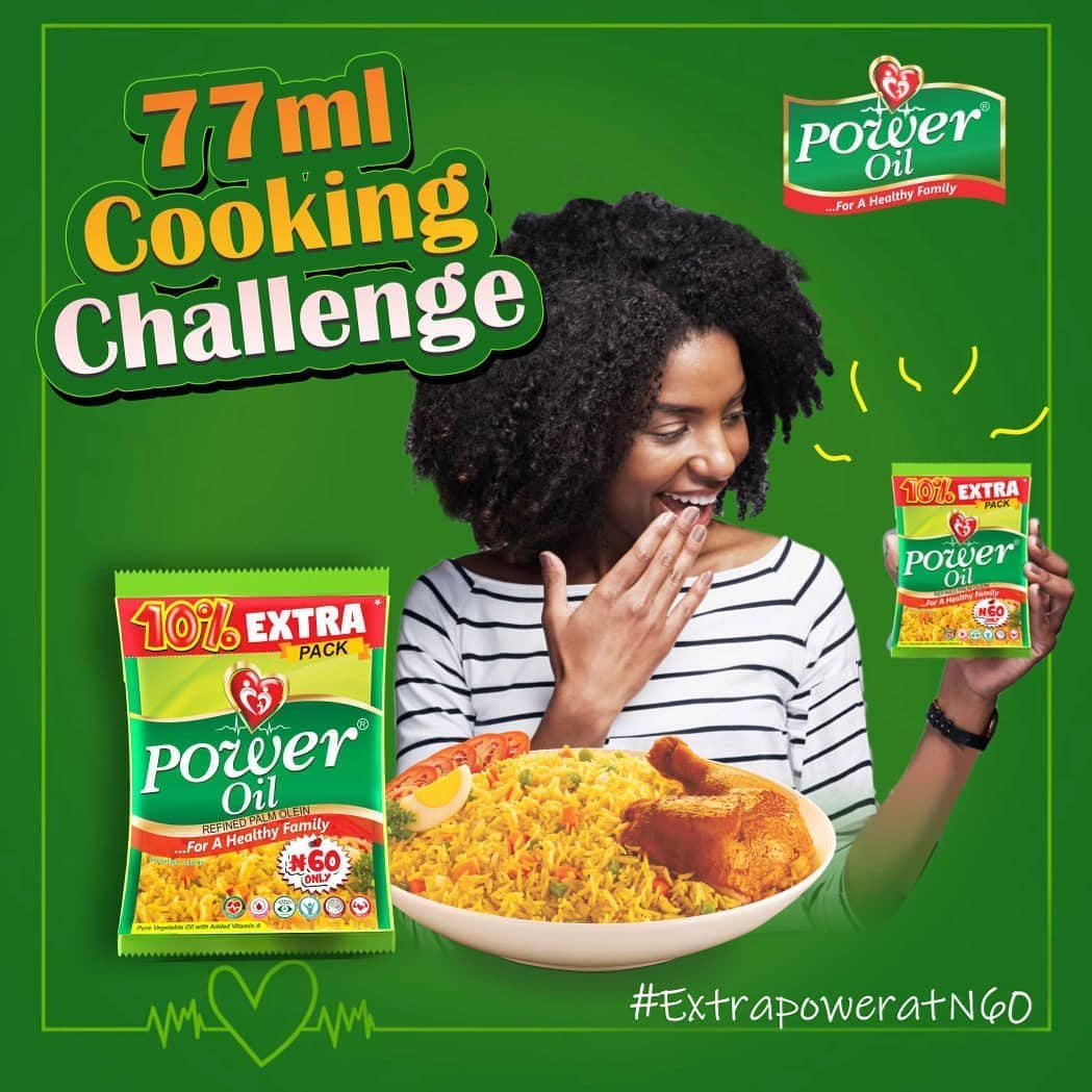 COMING UP: Power Oil 77ML Satchet Cooking Challenge.