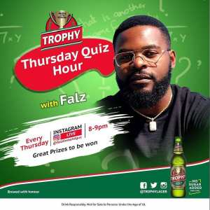 URGENT: Trophy Lager Thursday Quiz Hour with Falz, Loads of Prizes For Grabs.