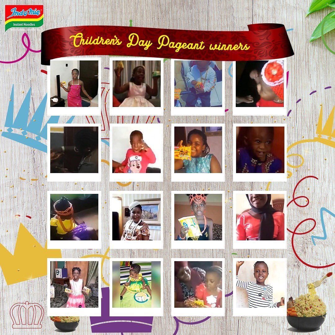 AMAZING: All entries into the Indomie Childrens Day Pageant are Winners.