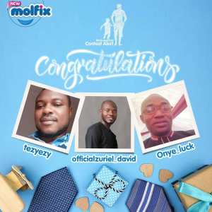 Here are the Winners of Molfix Fathers Day Giveaway.