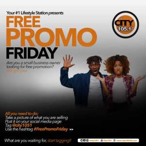 Small Business to Get  FREE PROMOTION in City105.1FM Promo.
