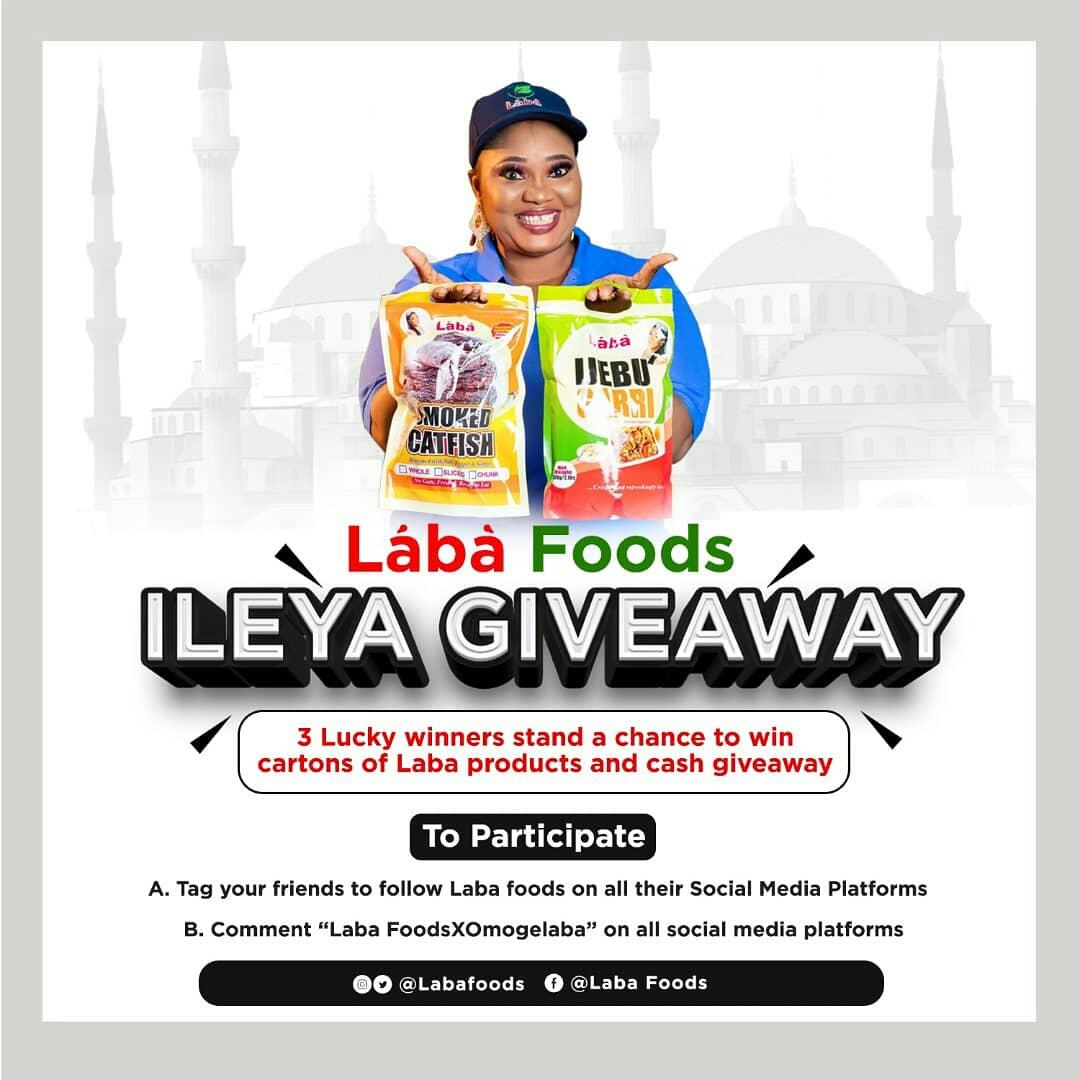 Win Food Products in Laba Foods ILEYA Giveaway.