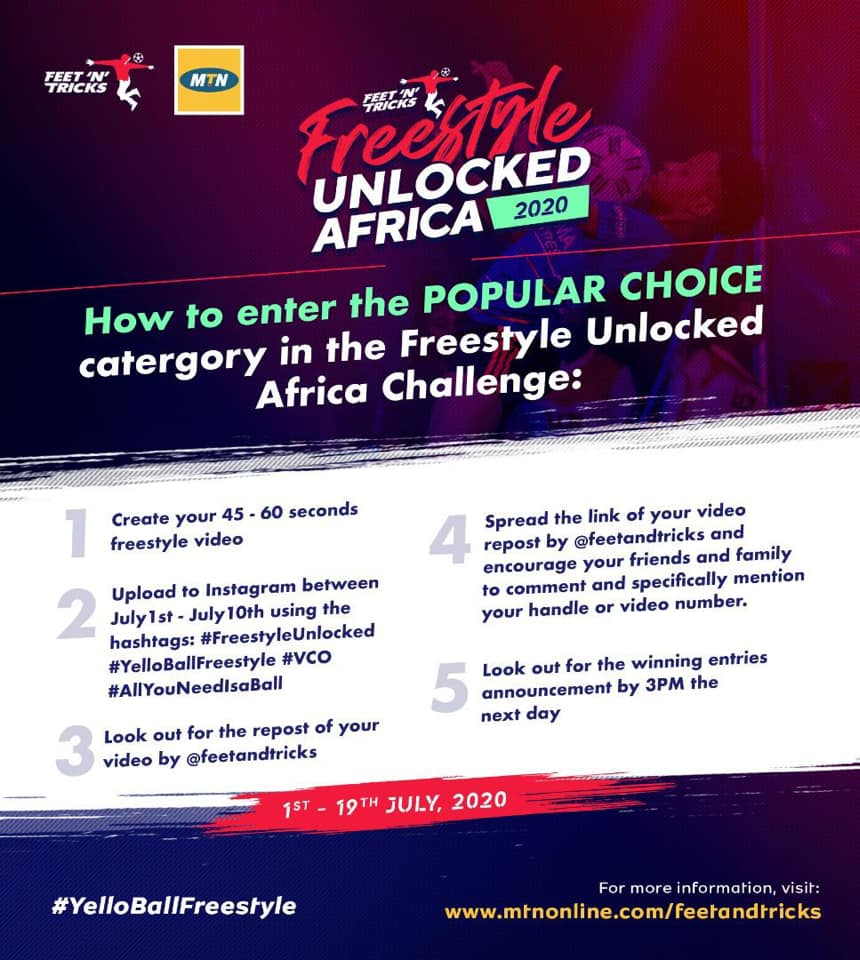 Win Big in the #YelloBallFreeStyle Africa Challenge.
