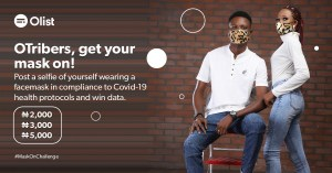Join The Olist Mask On Challenge and Win N5000, N3000 or N2,000.
