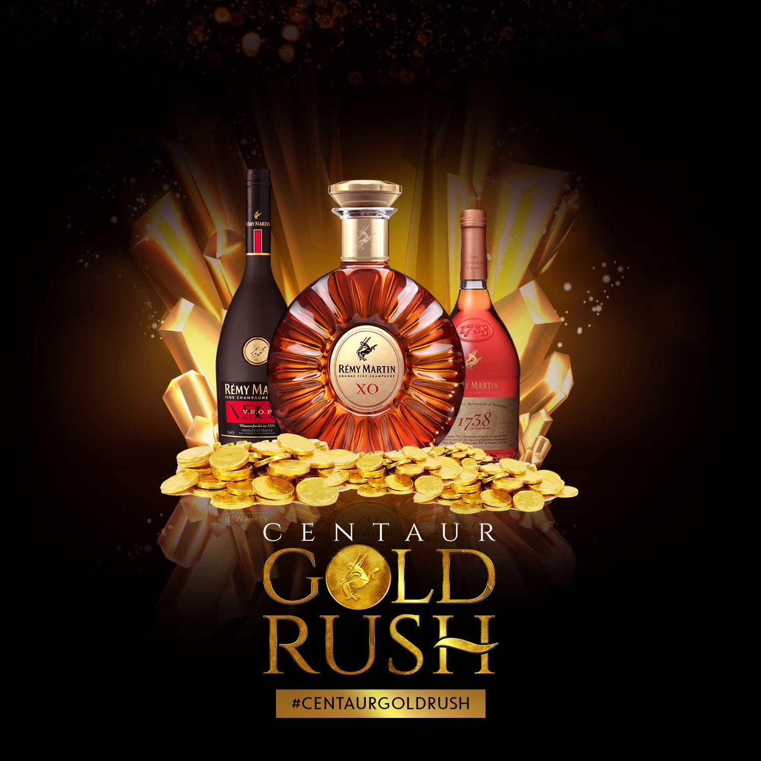 Buy and Win #CentaurGoldRush Coin And other amazing Prizes in Remy Martin Giveaway.