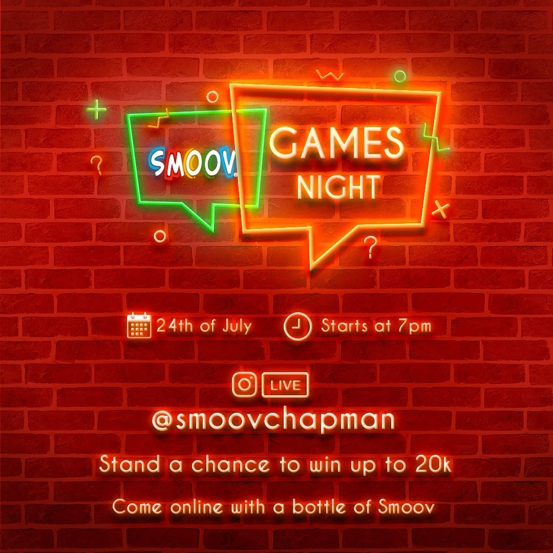 Stand a Chance to Win Up To N20k in Smoov Chapman Game Night.