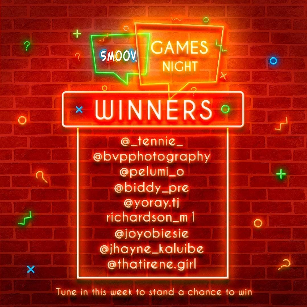 Winners of Smoov Games Night with Kiekie