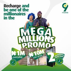 Win Millions in the 9Mobile Mega Millions Promo.