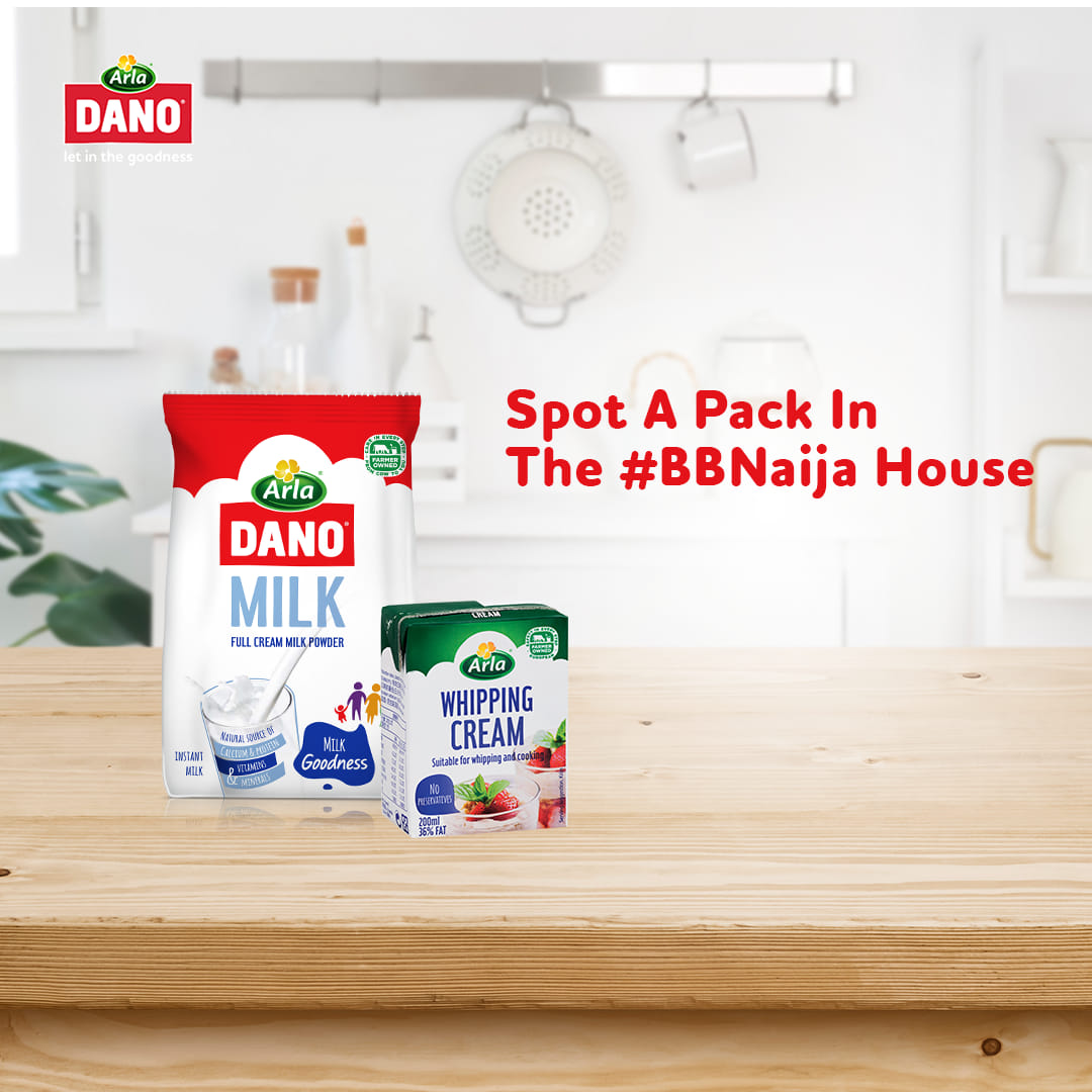 Spot Dano Milk Variants on BBNaija and Get Rewarded.