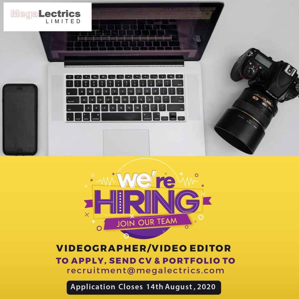 MegaLectrics is Hiring Content Executives and Videographer/ Video Editor.