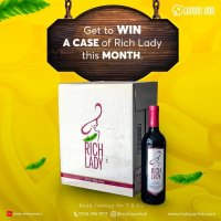 Win a Case of Rich Lady in  #myliquorhub Giveaway.