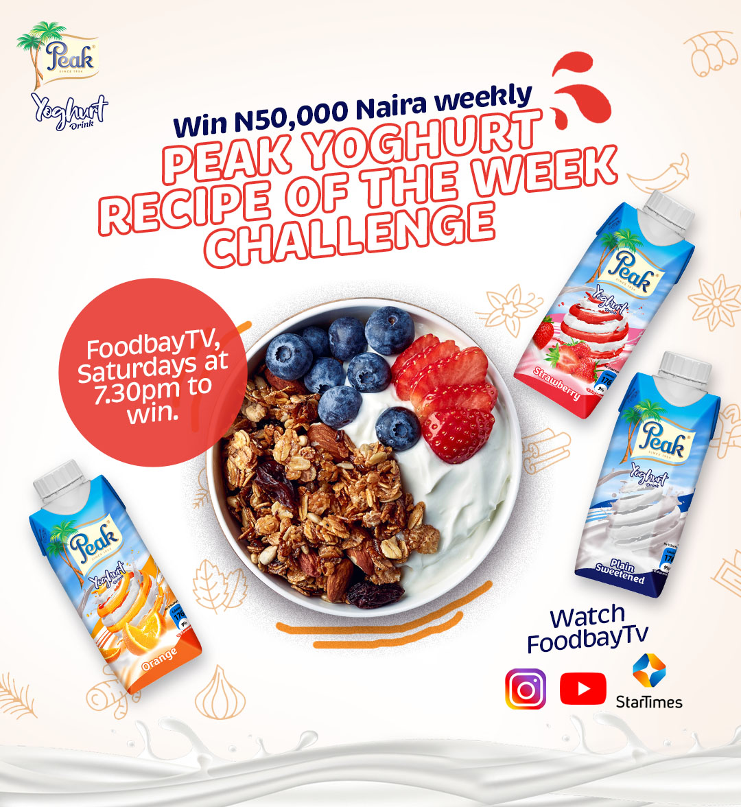 Win N50,000 in Peak Yoghurt Recipe of The Week Challenge.