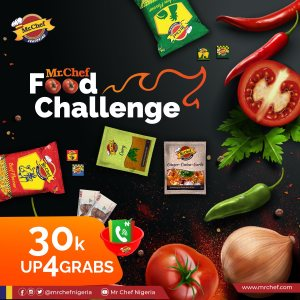 Win N30k in Mr. Chef Food Challenge.